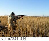 Купить «Стреляющий охотник», фото № 3381814, снято 9 октября 2010 г. (c) макаров виктор / Фотобанк Лори
