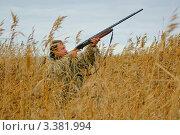 Купить «Охотник в маскировочном костюме», фото № 3381994, снято 9 октября 2010 г. (c) макаров виктор / Фотобанк Лори