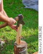 Купить «Рубка дров на растопку», фото № 3383382, снято 9 июля 2011 г. (c) Алёшина Оксана / Фотобанк Лори