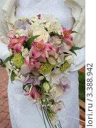 Купить «Букет невесты», фото № 3388942, снято 3 сентября 2010 г. (c) Пересыпкина Елена Игоревна / Фотобанк Лори