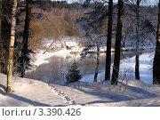 Подмосковная река Истра в марте. Стоковое фото, фотограф Виталий Тюлькин / Фотобанк Лори