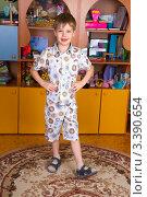 Купить «Шестилетний ребенок в детском саду», эксклюзивное фото № 3390654, снято 27 марта 2012 г. (c) Куликова Вероника / Фотобанк Лори