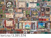Купить «Изразцы Резо Габриадзе в стене башни перед театром марионеток . Тбилиси. Грузия», фото № 3391574, снято 8 января 2011 г. (c) Николай Коржов / Фотобанк Лори
