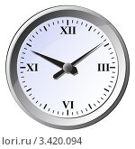 Купить «Настенные часы на белом фоне», фото № 3420094, снято 21 июля 2019 г. (c) Катыкин Сергей / Фотобанк Лори