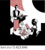 Купить «Ресторан. Иллюстрация», иллюстрация № 3423846 (c) Кукиль Мира / Фотобанк Лори