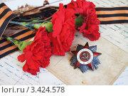 Купить «9 мая», фото № 3424578, снято 6 апреля 2012 г. (c) Tati@art / Фотобанк Лори