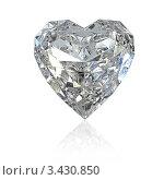 Купить «Бриллиант в форме сердца», иллюстрация № 3430850 (c) Zelfit / Фотобанк Лори