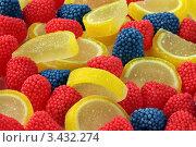 Фон из разноцветных конфет. Стоковое фото, фотограф Виниченко Ирина Николаевна / Фотобанк Лори