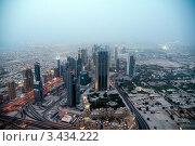 Купить «Дубай. Вид на вечерний город с башни «Бурдж-Халифа» (Burj Khalifa)», фото № 3434222, снято 29 марта 2020 г. (c) Валерий Шилов / Фотобанк Лори