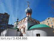 Купить «Церковь Власия, епископа Севастийского, что в Старой Конюшенной слободе. Москва», эксклюзивное фото № 3434866, снято 4 апреля 2012 г. (c) lana1501 / Фотобанк Лори