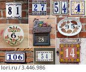 Керамические номера домов. Редакционное фото, фотограф Екатерина Ильина / Фотобанк Лори
