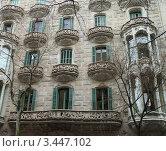 Дом архитектора Гауди (2012 год). Стоковое фото, фотограф Екатерина Ильина / Фотобанк Лори