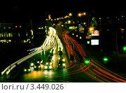 Красивая ночная дорога (2012 год). Редакционное фото, фотограф Станислав Малиновский / Фотобанк Лори