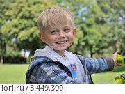 Улыбка ребенка. Стоковое фото, фотограф Elena Strigoun / Фотобанк Лори