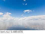 Зеркальная гладь Ладожского озера. Стоковое фото, фотограф Евгений Медведев / Фотобанк Лори
