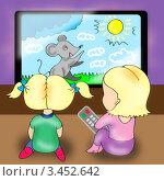 Купить «Телевизор», иллюстрация № 3452642 (c) Анна Боровикова / Фотобанк Лори