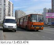 Купить «Городской автобус № 21. Улица Новокосинская, Москва», эксклюзивное фото № 3453474, снято 17 апреля 2012 г. (c) lana1501 / Фотобанк Лори