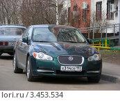 """Купить «Автомобиль """"Jaguar"""". Москва», эксклюзивное фото № 3453534, снято 17 апреля 2012 г. (c) lana1501 / Фотобанк Лори"""