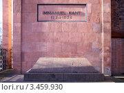 Купить «Могила Иммануила Канта. Калининград», фото № 3459930, снято 20 апреля 2019 г. (c) Сергей Куров / Фотобанк Лори
