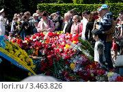 Возложение цветов на День Победы (2011 год). Редакционное фото, фотограф Станислав Малиновский / Фотобанк Лори