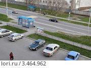 Купить «Заводоуковск. Автобусная остановка. Вид сверху», фото № 3464962, снято 5 мая 2011 г. (c) Александр Тараканов / Фотобанк Лори