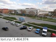 Купить «Заводоуковск. Автобусная остановка. Вид сверху», фото № 3464974, снято 5 мая 2011 г. (c) Александр Тараканов / Фотобанк Лори