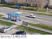 Купить «Заводоуковск. Автобусная остановка. Вид сверху», фото № 3465010, снято 5 мая 2011 г. (c) Александр Тараканов / Фотобанк Лори