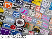 Купить «Вырезки из газет с разноцветными буквами», фото № 3465570, снято 23 августа 2011 г. (c) Elnur / Фотобанк Лори