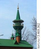 Купить «Местная религиозная организация общины мусульман «Мечеть Имама Равиля». Город Щелково, Московская область», эксклюзивное фото № 3469362, снято 16 апреля 2012 г. (c) lana1501 / Фотобанк Лори