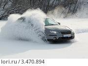 Экстремальное вождение автомобиля. Занос. Стоковое фото, фотограф Mikhail Starodubov / Фотобанк Лори