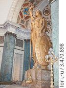 Купить «Гавана. Интерьеры в здании Капитолия: Аллегорический женский образ работы итальянского скульптора Анджело Дзанелли внутри главного зала символизирует Республику Куба», фото № 3470898, снято 18 декабря 2011 г. (c) Сергей Дубров / Фотобанк Лори