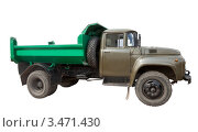Купить «Старый советский грузовик на белом фоне», фото № 3471430, снято 23 апреля 2012 г. (c) Яков Филимонов / Фотобанк Лори