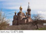 Строящийся храм (2012 год). Стоковое фото, фотограф Михаил Бессмертный / Фотобанк Лори