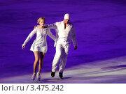 Купить «Роман Костомаров и Оксана Домнина», фото № 3475242, снято 3 апреля 2012 г. (c) Ирина Иванова / Фотобанк Лори