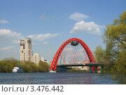 Купить «Живописный мост через Москва-реку», фото № 3476442, снято 29 апреля 2012 г. (c) Валерия Попова / Фотобанк Лори