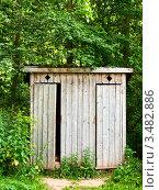 Купить «Деревенский туалет», фото № 3482886, снято 1 августа 2009 г. (c) Дмитрий Наумов / Фотобанк Лори