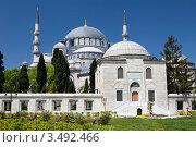 Купить «Вид на мечеть Сулеймание в центре города Стамбул, Турция», фото № 3492466, снято 29 апреля 2012 г. (c) Николай Винокуров / Фотобанк Лори
