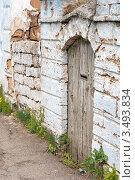 Купить «Старая деревянная дверь», фото № 3493834, снято 29 апреля 2012 г. (c) Рожков Юрий / Фотобанк Лори