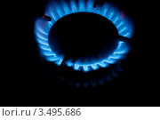 Газовая горелка с огнем. Стоковое фото, фотограф Хромушин Тарас / Фотобанк Лори
