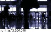 Купить «Силуэты в холле», видеоролик № 3506098, снято 11 июля 2008 г. (c) Losevsky Pavel / Фотобанк Лори