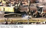 Купить «Строительство траншей, таймлапс», видеоролик № 3506162, снято 9 июня 2008 г. (c) Losevsky Pavel / Фотобанк Лори