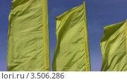 Купить «Развевающиеся флаги», видеоролик № 3506286, снято 12 мая 2008 г. (c) Losevsky Pavel / Фотобанк Лори