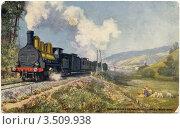Купить «Express de Paris an Mont-Dor. Старинная французская открытка.», иллюстрация № 3509938 (c) Говорова Лариса / Фотобанк Лори