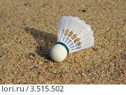 Воланчик на песке. Стоковое фото, фотограф Дмитрий Антонов / Фотобанк Лори