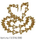 Золотая кобра. Стоковая иллюстрация, иллюстратор Юдинцев Дмитрий / Фотобанк Лори