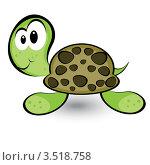 Купить «Мультипликационная черепаха», иллюстрация № 3518758 (c) Dvarg / Фотобанк Лори