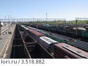 Купить «Железнодорожные составы», фото № 3518882, снято 4 мая 2012 г. (c) Илюхина Наталья / Фотобанк Лори