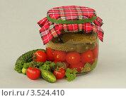 Купить «Маринованные огурцы с помидорами», фото № 3524410, снято 11 мая 2012 г. (c) Чукова Жанна / Фотобанк Лори