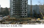 Купить «Строительство жилого дома, таймлапс», видеоролик № 3538790, снято 1 апреля 2009 г. (c) Losevsky Pavel / Фотобанк Лори