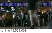 Купить «Пассажиры в аэропорту», видеоролик № 3539602, снято 2 июня 2009 г. (c) Losevsky Pavel / Фотобанк Лори